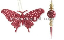 Red color decorations/butterflyr wedding decorations/Beautiful hanging decoration for sale