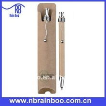 promotional recycled paper pen set, eco pen set