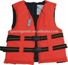 NEW ARRIVAL: Orange 210D nylon fabric Life Jacket
