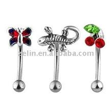 YiWu Zelin eyebrow piercing,Popular and fashionable 3D eyebrow rings body piercing jewelry