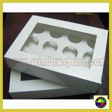 12 Cupcake Box (White Popup) & 6cm Divider