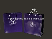 glossy purple paper shopping bags