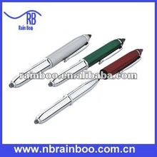 Hot selling new style promotional metal led light pen for school