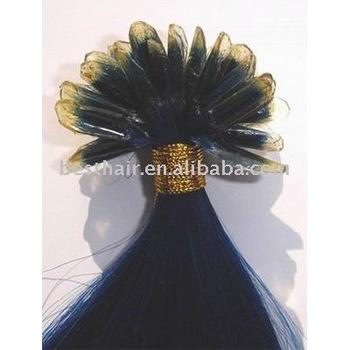 Remy hair pre-bonded hair extension U tip 1g 28inch blue
