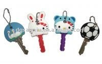 soft PVC /rubber cute key covers/topper/cap wholesale