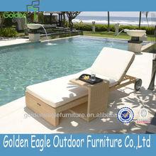 PE rattan outdoor chaise , aluminum lounger, furniture lounge