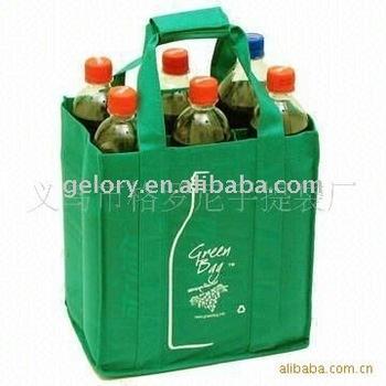 80gsm TNT/non woven 6 bottle wine tote bag