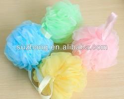 bath sponge with a plastic handble/loofah/scrubber