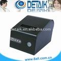 80mm pos impresora térmica de recibos con cortador automático; el restaurante de impresora de recibos