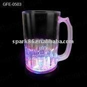 plastic blinking light up LED flashing beer mug