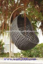 Aluminum PE Wicker hanging chair