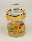 glass candle jars and lids,decorative glass jars and lids,high quality glass storage jar