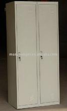 Modern product 2 door stainless steel filing/clothes closet doors wardrobe locker/cabinet/cupboard furniture 2014