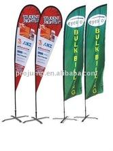 2012 portable outdoor advertising tear drop flag