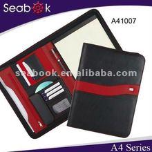 A4 leather portfolio with calculator