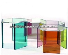 Fashion Acrylic Side Table With Different Colors Legs
