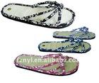 Fabric slipper bamboo sandal for women-FZNYL