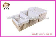 Promozione! Handmade paglia cestino del pane con la fodera tessuto cestino del pane