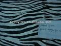 animal print terciopelo sofá de la tela