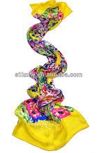 Factory- Free Samples - No MOQ -100% silk chiffon shawl