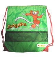 Cheap green nylon printed drawstring shoe bag for sale