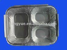 Three Compartment Aluminum Container