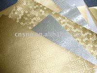 S&Q Texture Aluminum Foil Laminated Board Gold / Silver