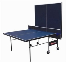 Modern standard double foldable movable pingpong table, table tennis table for training