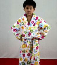 children coral fleece bathrobe