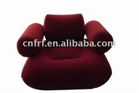 RED Inflatable Kids Flocked Sofa