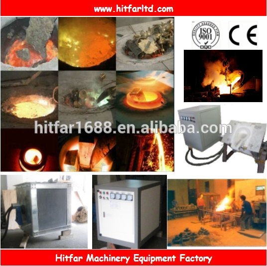 80Kgs/75KW Electric Induction Melting Furnace for scrap iron/cast iron