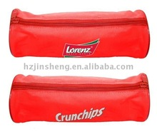 High quality red zipper golf ball holder bag