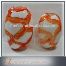 30cm net patterned glass flower vase