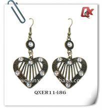 Fashion alloy heart earring (QXER11486)