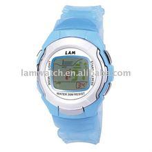 No brand blue digital watches made in Shenzhen