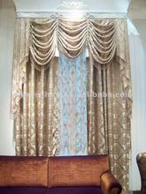 Morden 100% polyester clip hotel curtain