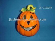 Ceramic Pumpkin Candle Holder/ Halloween Pumpkin