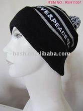 (RSH11051) Men's Jacquard Knitted Pompom Hat