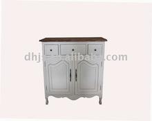 11CA06-009 old elm Three drawer & Double door cabinet
