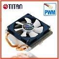Intel LGA 775 1U low profile server 2 x 6mm heat pipe PWM controller TDP 115W CPU fan cooler