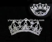 2012 Hot Selling Bridal Jewelry Big Rhinestone Fashion Pageant Crown