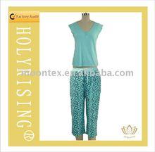 blue simple style sleepwear for woman