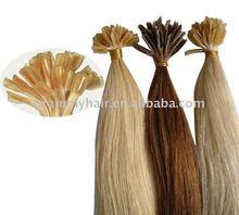 Human Hair Extension Nail Tip 20 Inch keratin glue from Italy