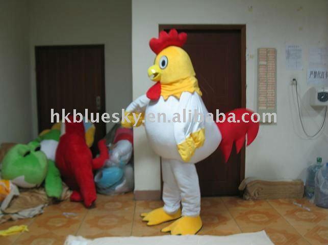 character adult chicken costume mascot