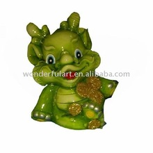Antique ceramic dragon coin bank decoration