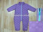 Baby 100% Polyester Embossed Micro Fleece Romper