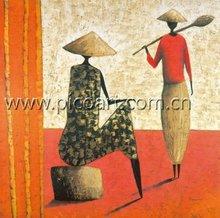 Mulheres africano pintura a óleo, Pinturas africanas