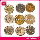Metal game token coin with custom logo