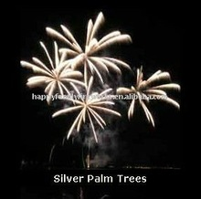 silver palm tree display shell
