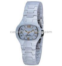 fashion ladies white quartz ceramic watch custom dial face ceramic watch high quality ceramic watch